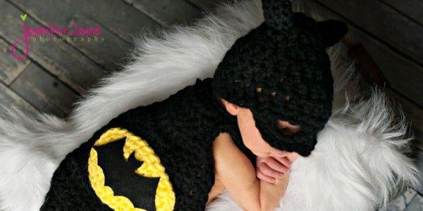 Batman Cape with Ht for Newborn